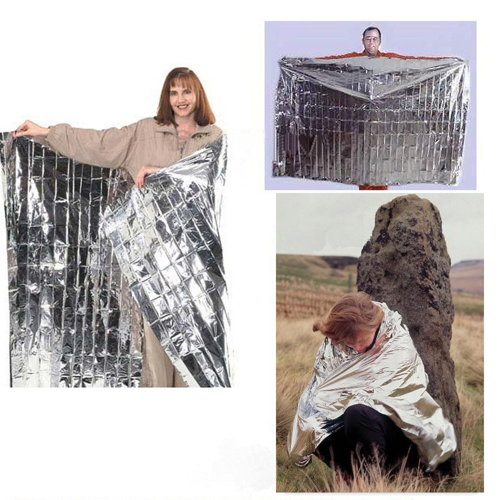 New 10PCS Silver Outdoor Emergency Survival Rescue <font><b>Blanket</b></font> Foil Thermal Space First Aid Curtain OC24