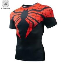 Summer 3D Print Compression T-Shirt Men Marvel Comic Superhero Spiderman Superman Batman Short Sleeve T Shirt Fitness Clothing