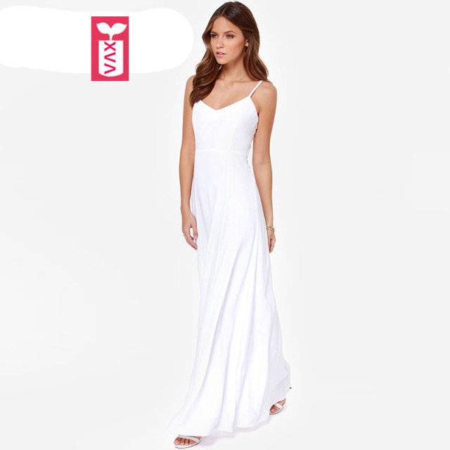 White Floor Length Dress