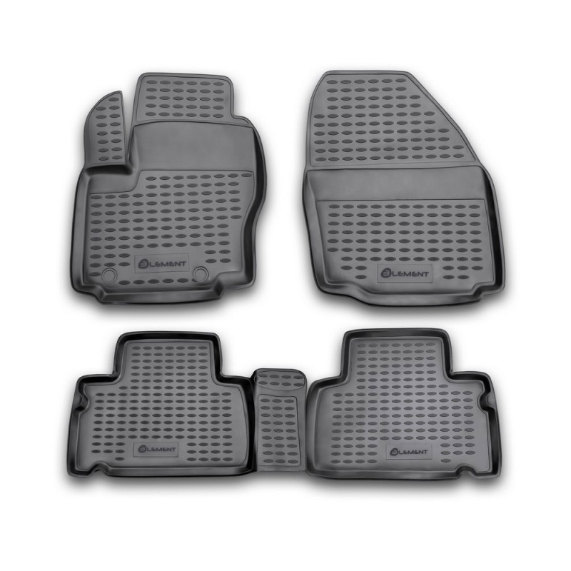 Mats in the salon For FORD S-MAX, 2006-> (FN), 4 PCs (polyurethane) mats in the salon for ford escape 2007 3 pcs polyurethane