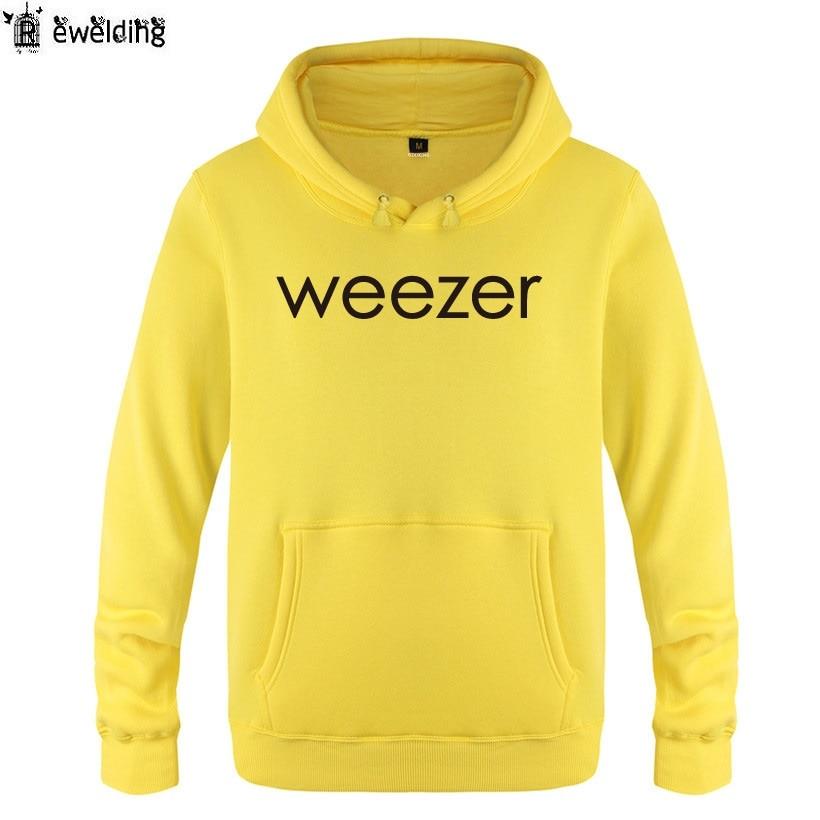 Weezer Christmas Sweater.Us 24 56 29 Off Mens Hoodies Music Rock Band Weezer Letter Hoodie Men Hip Hop Fleece Long Sleeve Man S Sweatshirt Skate Pullover Tracksuit Coat In