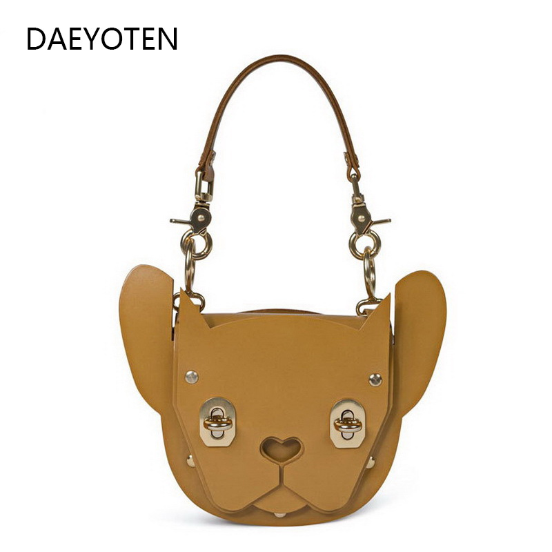 DAEYOTEN 2019 nouveau Rivet serrure sac à bandoulière forme animale sac à main femmes sac mignon chien fourre-tout sacs de luxe concepteur sacs à main ZM0238