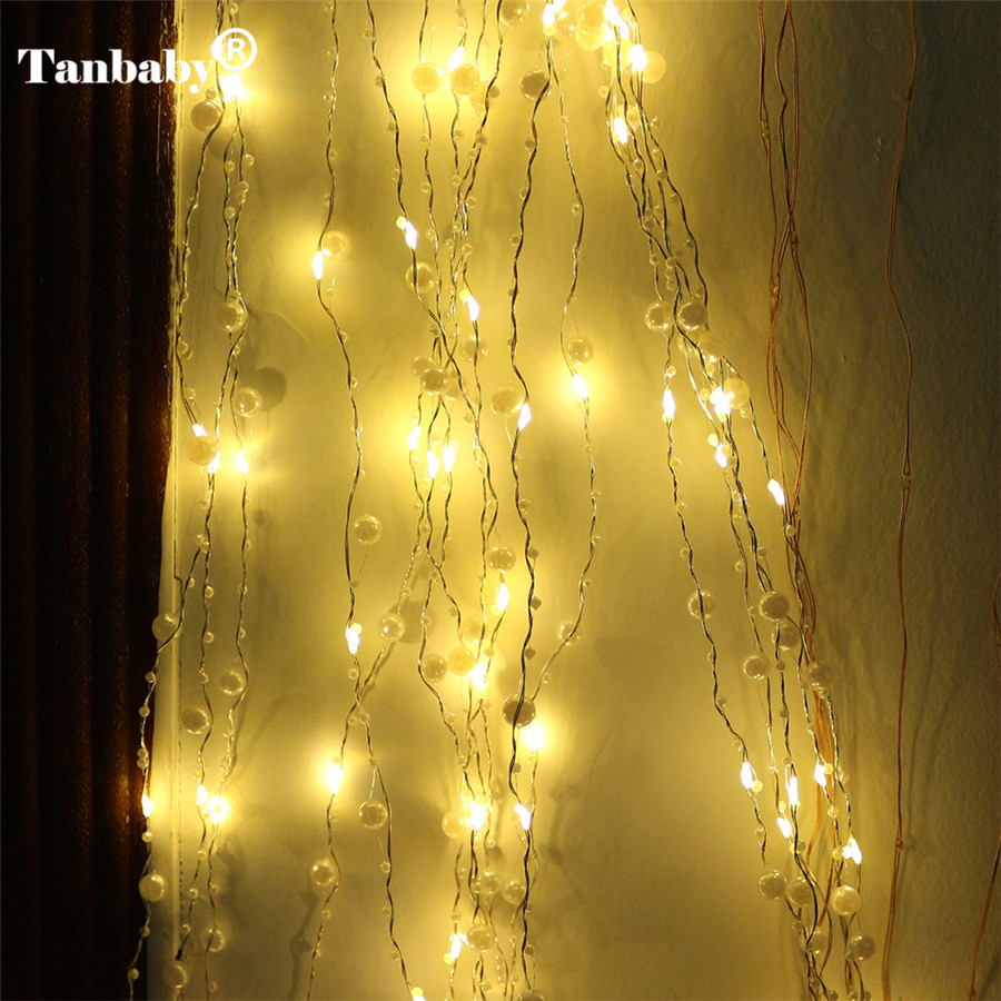 Tanbaby fairy led string light 2m 200 led decorative pearl garland rope copper wire starry - Led decorative string lights ...