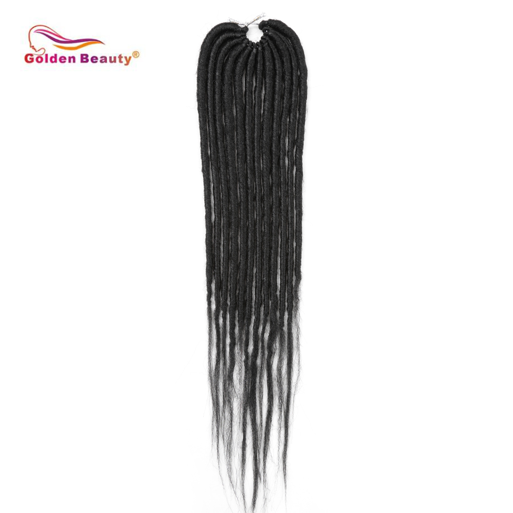 8pcs/pack 20inch Goddess Faux Locs Crochet Braids Natural Synthetic Hair Extension 12stands/Pack Faux Locs Golden Beauty