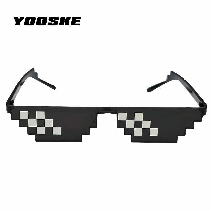 896197aaa5 YOOSKE lidiar con ello gafas de 8 bits mosaico Pixel gafas de sol hombres  mujeres fiesta