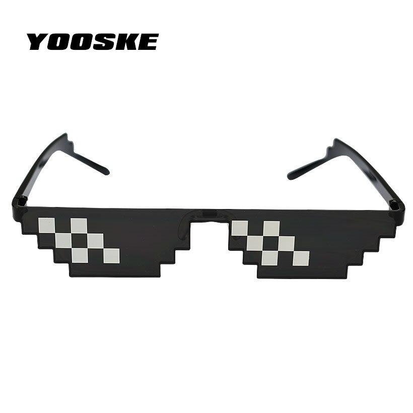 YOOSKE Deal Mit Es Gläser 8 bits Mosaik Pixel Sonnenbrille männer Frauen Brillen Dealwithit thug life Beliebt Auf der Ganzen welt