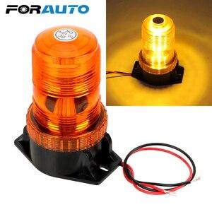 FORAUTO lampa awaryjna stroboskop LED migające światło ciężarówka ostrzeżenie lampa błyskowa Beacon DC 12 V samochód stylizacji akcesoria samochodowe