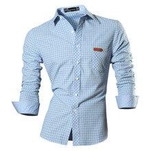 2017 Spring Autumn Options Shirts Males Informal Denims Shirt New Arrival Lengthy Sleeve Informal Slim Match Male Shirts 8615