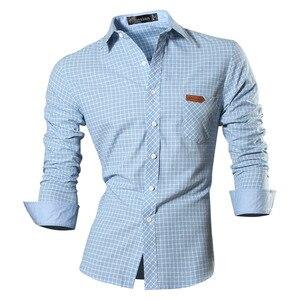 Image 2 - Jeansian primavera outono características camisas dos homens calças de brim casuais camisa nova chegada manga longa casual magro caber camisas masculinas 8615