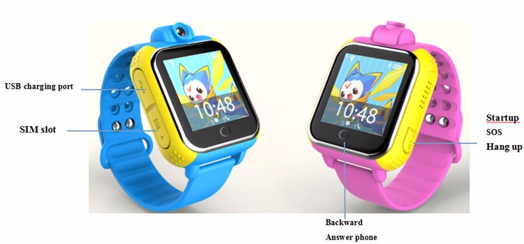 ФОТО Discount smart baby watch q100 G75 gps watch phone with factory price logo silicone watch 3G gps watch