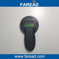 Free Shipping 134 2KHz FDX B Pet Microchip Portable RFID Scanner Animal RFID Tag Reader
