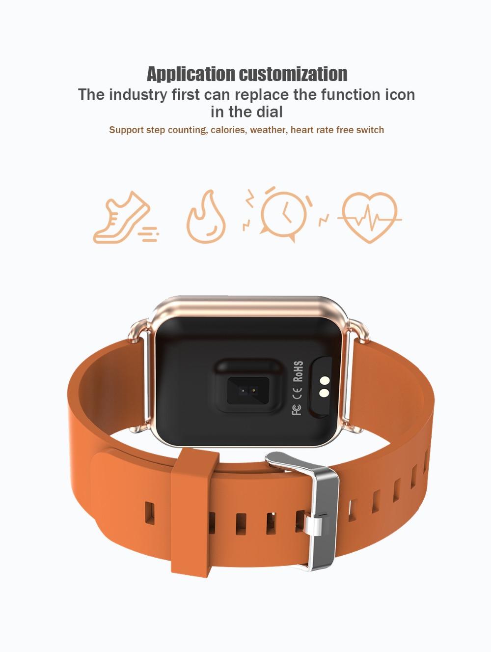 TOLASI Q3 Smart watch Men Dynamic Blood Oxygen Pressure Pedometer Fitness  Tracker Heart Rate APP Custom Dial Smartwatch