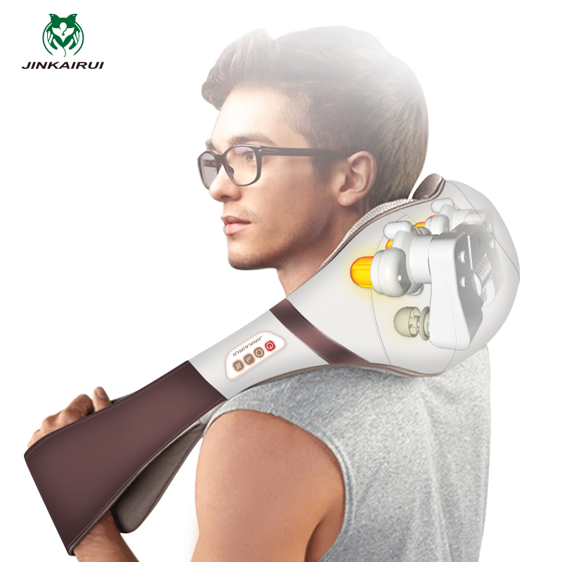 Multifunction Infrared Body Health Care Equipment Acupuncture Kneading Neck Shoulder Body Massage Pillow Cellulite Massager wholesale 10pcs ctn neck shoulder massager belt anti cellulite massager multifunction acupuncture kneading heating belt