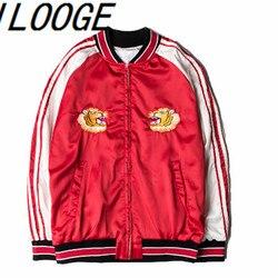 2016 harajuku street jacket women man fashion red satin embroidery tiger baseball uniform bomber jacket coat.jpg 250x250