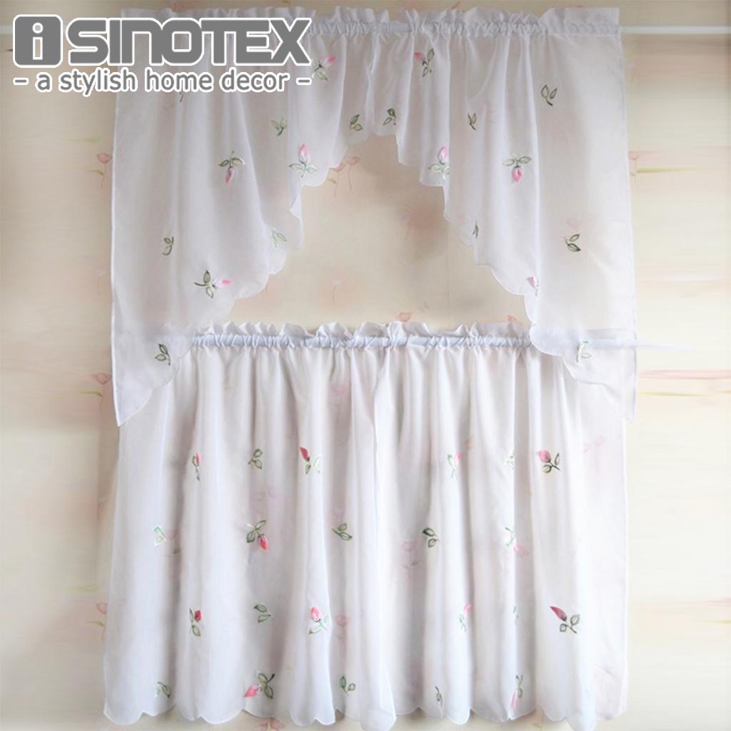 stampa floreale romano tenda della finestra pura mantovana caff half pannello tenda per la cucina