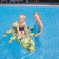 Crianças Ride-on Jacaré Inflável Piscina Flutuadores Bóia de Natação Colchão de Ar Ilha Flutuante Pontão Barco de Brinquedo Água do Divertimento do Verão