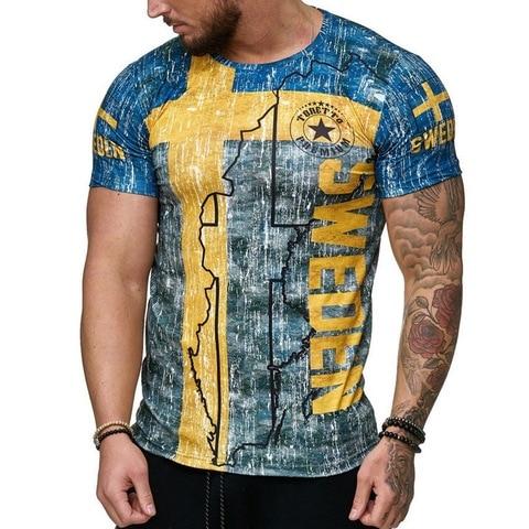 HEFLASHOR Casual Printed Male T Shirt 2019 Fashion Short Sleeve  Tee Tops Male Hip Hop Streetwear Fitness Men Tshirts 3XL Islamabad