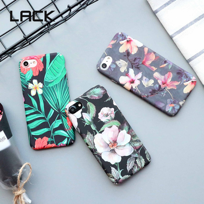 LACK Retro Flowers Leaves <font><b>Phone</b></font> <font><b>Case</b></font> For iphone 6 6s 7 8 Plus X Vintage Oil Painting Floral Summer <font><b>Green</b></font> Leaf Back Cover Funda