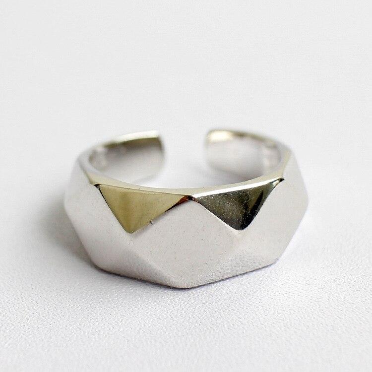 Лучший!  HFYK Кольцо Стерлингового Серебра 925 2019 Большие Геометрические Кольца Для Женщин Серебряные  Лучший!