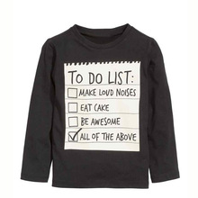 To Do List T-shirt Grey Pants 2PCS Clothing Sets For 3-7 Yrs