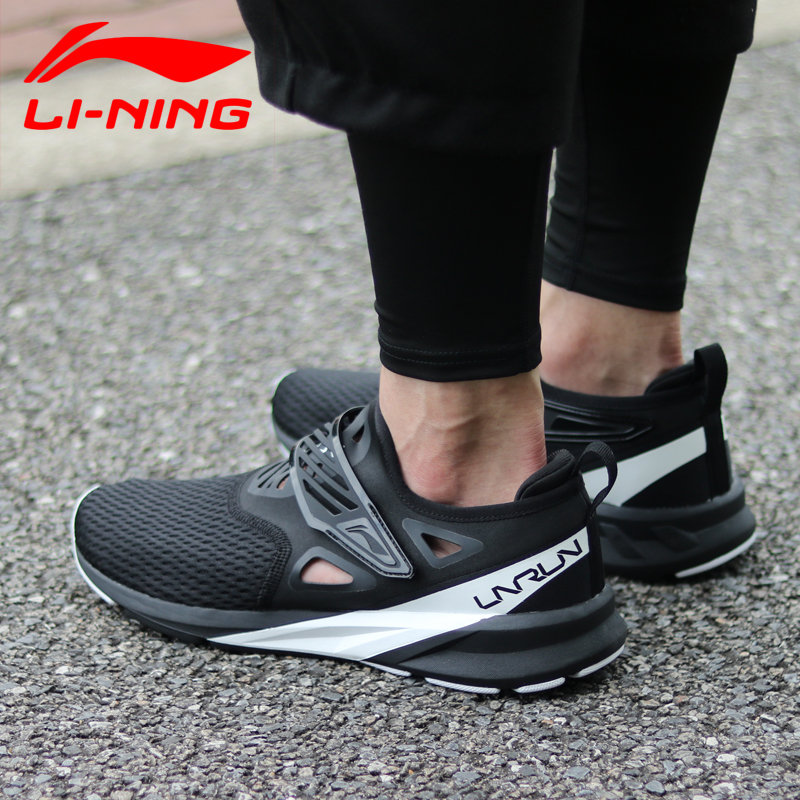 Li Ning Men COLOR ZONE Cushion Running Shoes Light Breathable Sneakers Comfort Fitness LiNing Sports Shoes