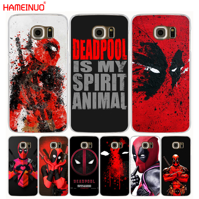 reputable site c35bc 1a68c US $1.93 34% OFF|HAMEINUO Cool Marvel Hero Deadpool cell phone case cover  for Samsung Galaxy S7 edge PLUS S8 S6 S5 S4 S3 MINI-in Half-wrapped Case ...
