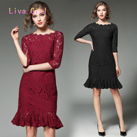 Fashion Hot Style Spring And Autumn High End Dress Cultivate One S Morality Package Buttocks Tail