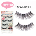 15Pair/Lot  HW-10  false eyelashes Extensions Fake Lashes Transparent Plastic  false eyelashes cross For Eye Lashes false