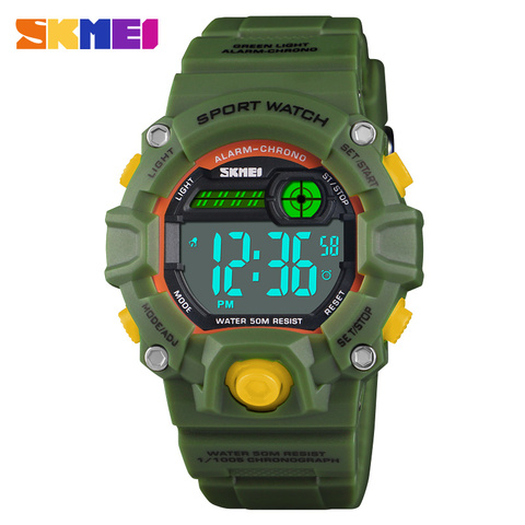 Fashion Kids Watches 50 Meters Waterproof  Plastic Shell Led Digital Girls And Boys Watch For Children Student Clock SKMEI 2018 Lahore
