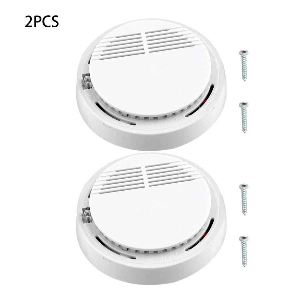 2Pcs 85dB Fire Smoke Photoelectric Sensor Detector Monitor Home Security System for Family Guard Office building Restaurant2Pcs 85dB Fire Smoke Photoelectric Sensor Detector Monitor Home Security System for Family Guard Office building Restaurant