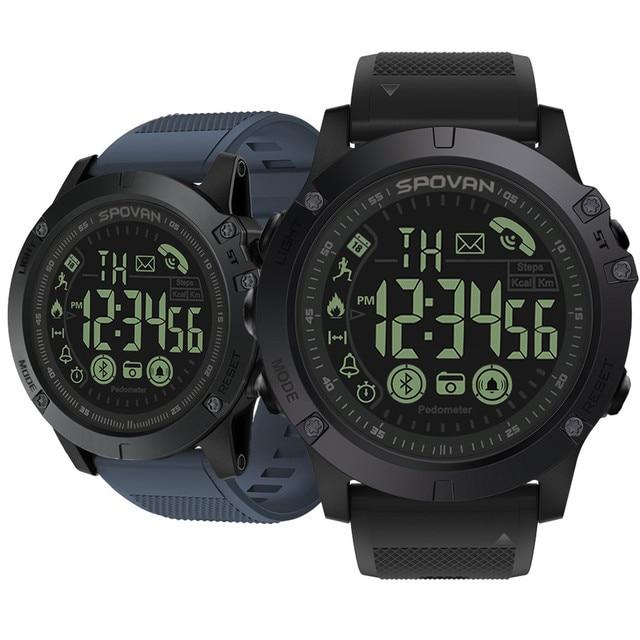 Genvivia Smart Watch Men Fitness Bracelet heart rate tracker Pedometer smartwatch #w35