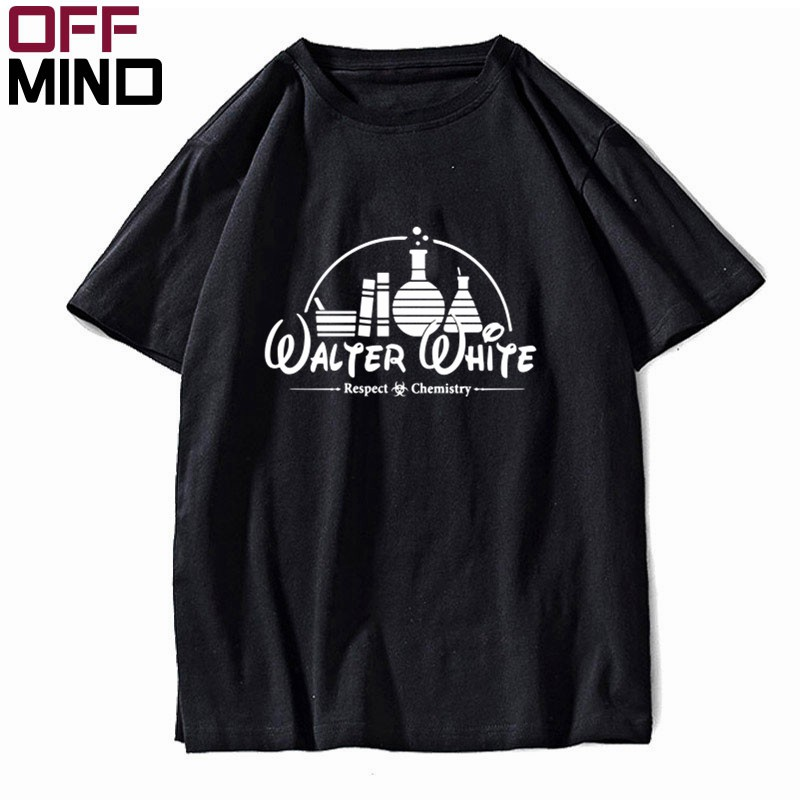 OFF MIND Pure cotton short sleeve loose men T shirt casual walter white heisenberg men tshirt summer t-shrit male men tee BR0122 image