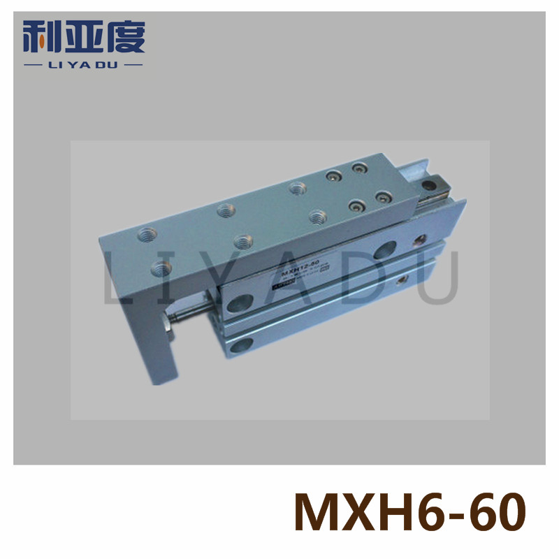 MXH6-60 pneumatic slider (linear guide) slide cylinder Bore Size 6mm Stroke 60mm  MXH6X60MXH6-60 pneumatic slider (linear guide) slide cylinder Bore Size 6mm Stroke 60mm  MXH6X60
