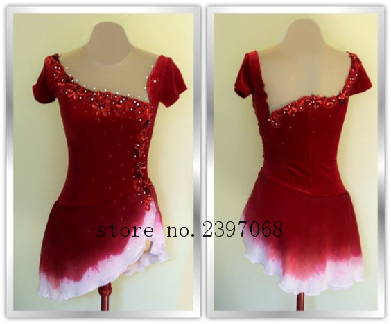 Figure Skating Clothing Women Competition Skating Dress Custom Ice Figure Skating Clothing For Girls Expensive Free Shpping B22
