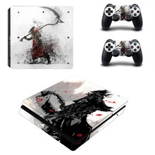 Dark Souls Bloodborne PS4 Slim Skin Sticker Decal for PlayStation 4 Console and Controller PS4 Slim Sticker Skins Vinyl