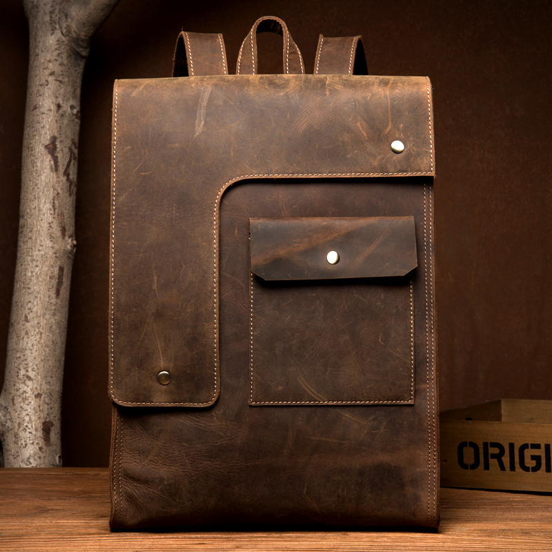 DWOY Crazy Horse Cowhide Men Backpack Genuine Leather Vintage Daypack Travel Casual School Book Bags Brand Male Laptop BagsDWOY Crazy Horse Cowhide Men Backpack Genuine Leather Vintage Daypack Travel Casual School Book Bags Brand Male Laptop Bags