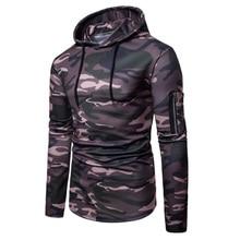 Hoodies Men 2019 Fashion Brand Camouflage Printed Sweatshirt Male Hoody Tracksuit Hip Hop Autumn Winter Hoodie