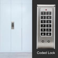 Digit Coded Lock Password Locks Combination Cam Cabinet Locker Convenient Password Security Code lock Silver