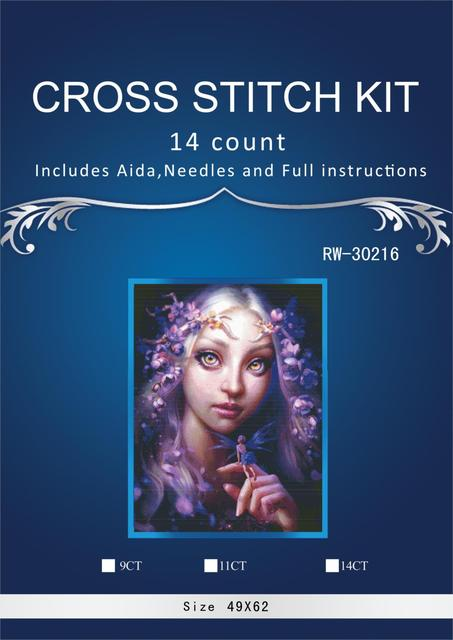49-65 angel chinese Stitch,DIY 14CT similar  DMC Cross Stitch,Sets For Embroidery Kits Counted Cross-Stitching