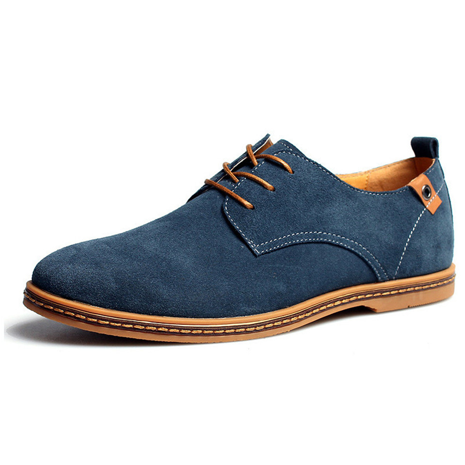 2017 fashion men casual shoes new spring men flats lace up male suede oxfords men leather shoes zapatillas hombre size 38-48 men shoes men s flats 2017 new spring autumn fashion comfortable canvas men s for man casual shoes zapatillas hombre plus size