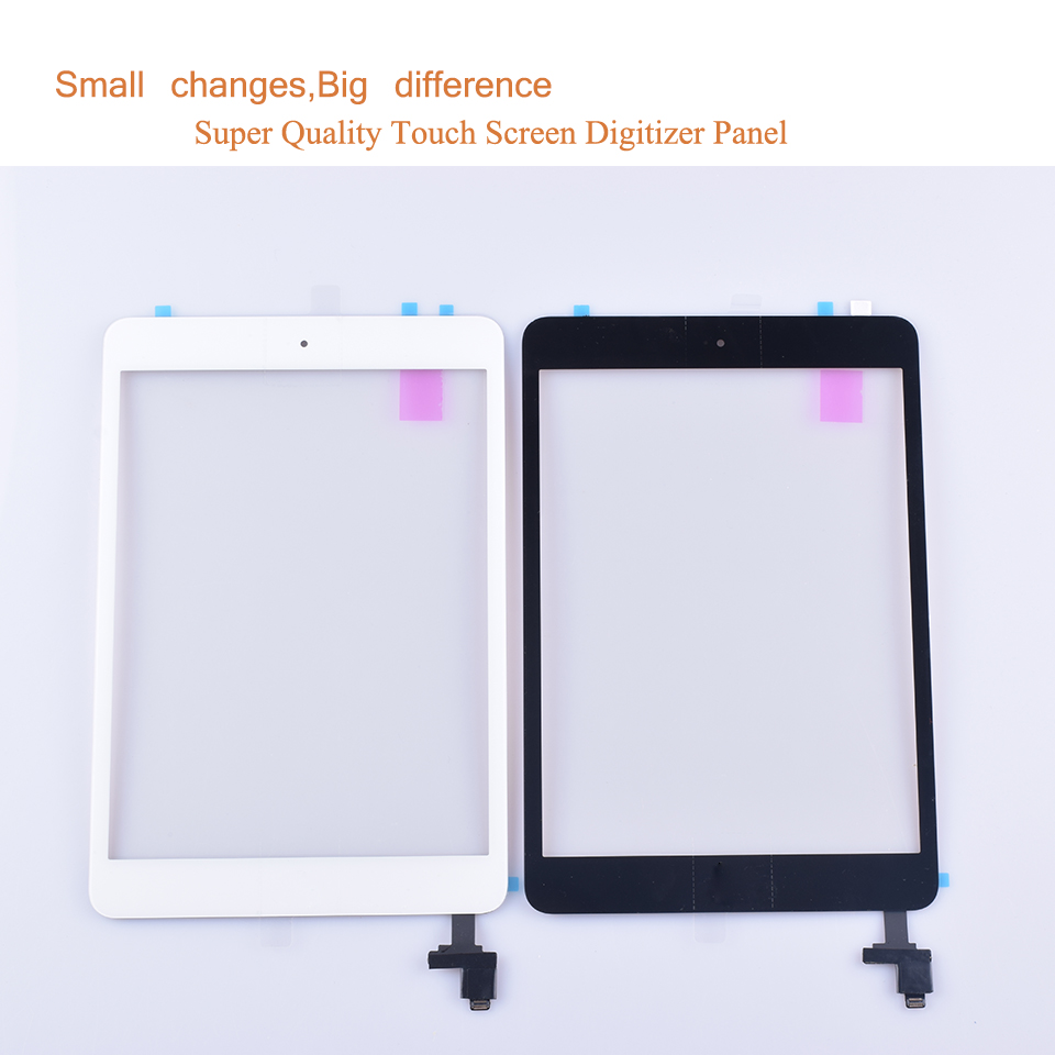 10Pcs lot Original For Apple Ipad Mini 2 2013 Touch Screen Digitizer LCD Front Panel A1489 A1490 A1491 Touchscreen With IC in Tablet LCDs Panels from Computer Office