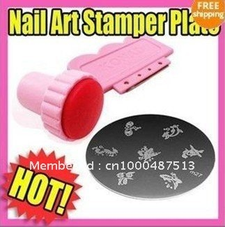 Lowest Price Nail Art Professional Painting Stamper 10pcs/lot Image Template DIY Design Printer / Sticker Freeshipping