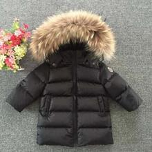 2016 Fashion Girl Winter down Jackets Coats warm baby girl 100% thick duck Down Kids jacket Children Outerwears for cold winter