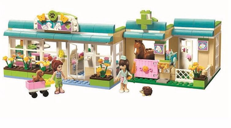 2016 new Friends series the Heartlakes Vet Model Building Block Classic girl toys figures Compatible with Lepin 3188 new 7033 friends series the city park cafe pirate ship model building block classic girl toys compatible with lepin