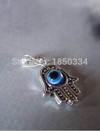 Wholesale 50pcs fashion antique silver hamsa hand of fatima evil eye wholesale 50pcs fashion antique silver hamsa hand of fatima evil eye pendant necklace and bracelets diy jewelry accessories c47 in charms from jewelry aloadofball Gallery