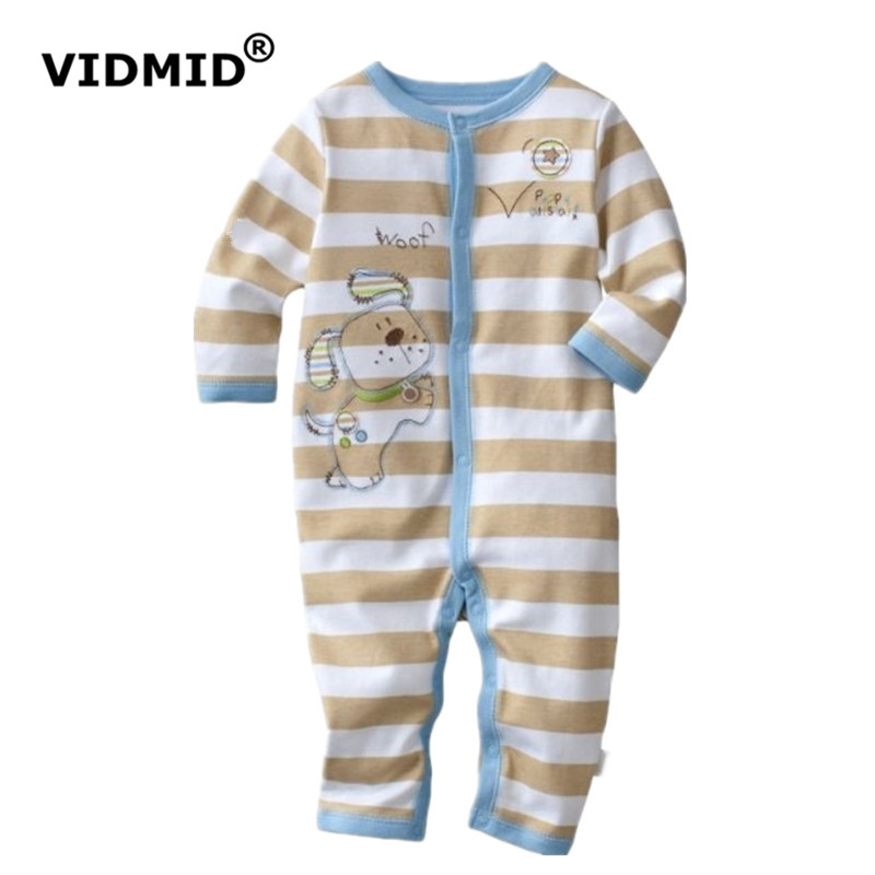 Top Quality Brand Baby Rompers Cotton overall jumpsuit Long Pajamas Romper 1pcs Toddler ONE-PIECES Clothes newborn 100% cotton