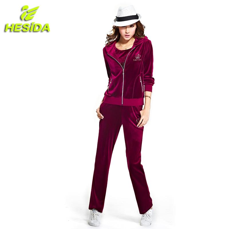 Sport Suit Women Sportswear For Women's Sportwear Velour Tracksuit Sport Wear Hoodie Hooded Jacket Women Running Sports Set 2pcs