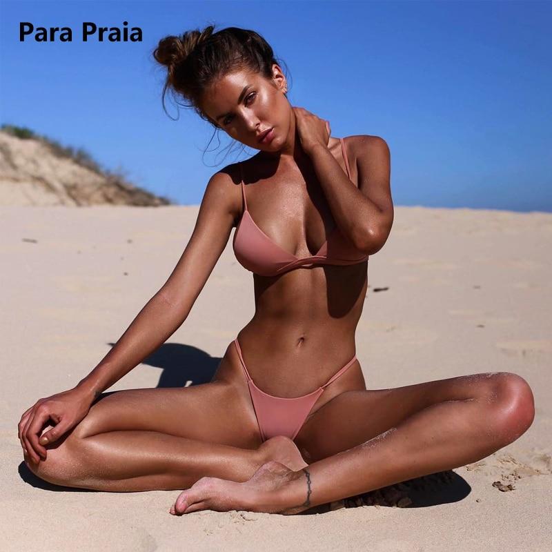 HTB1Hdr3tmtYBeNjSspaq6yOOFXae 9 Colors Solid Bikini Set 2019 Sexy Push Up Swimwear Women Brazilian Swimsuit Low Waist Biquini Halter Two Pieces Bathing Suit