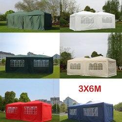 Panana grand 6x3m étanche Pop Up jardin Gazebo tonnelle tente de fête avec côtés fenêtre sac pays juste ajustement 4-6 personnes tente rapide