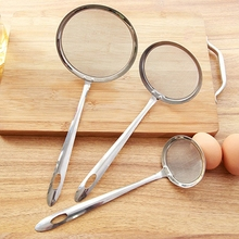 1Pc Stainless Steel Fine Mesh Oil Strainers Flour Filter Colander Kitchen Tool